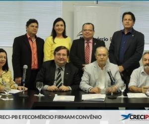 CRECI-PB E FECOMÉRCIO FIRMAM CONVÊNIO